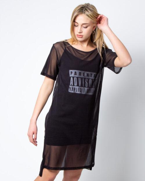 Vestito corto Parental Advisory Tulle con Logo Frontale Nero – 42437