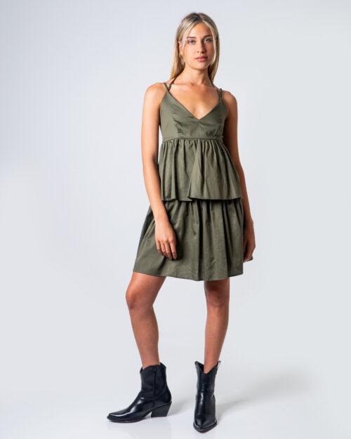 Vestito corto Vicolo BALZE Verde Oliva – 53314
