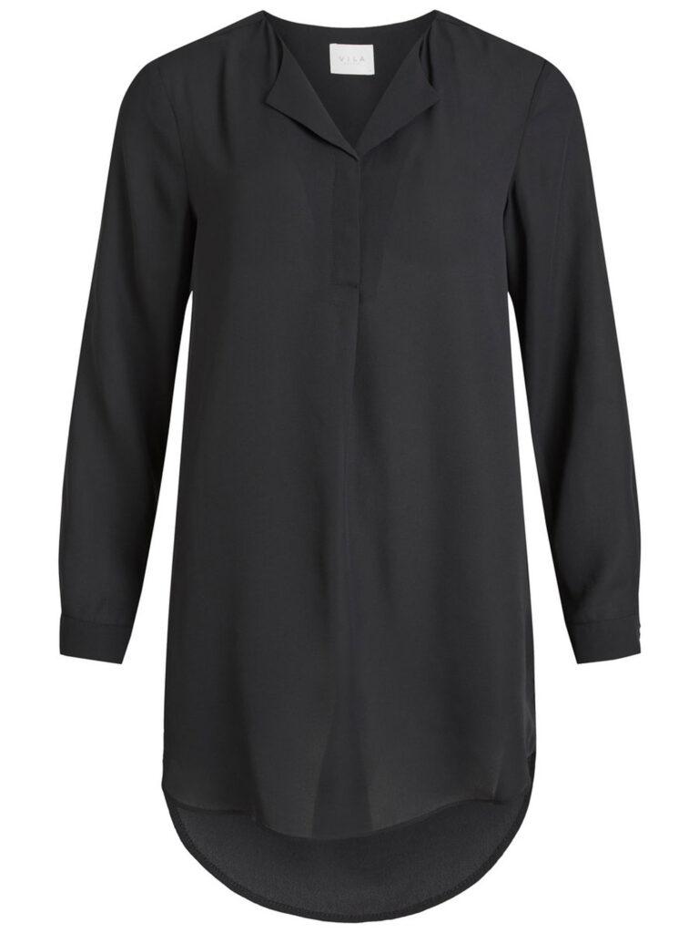 Bluse manica lunga Vila Clothes VILUCY L/S TUNIC Nero - Foto 4