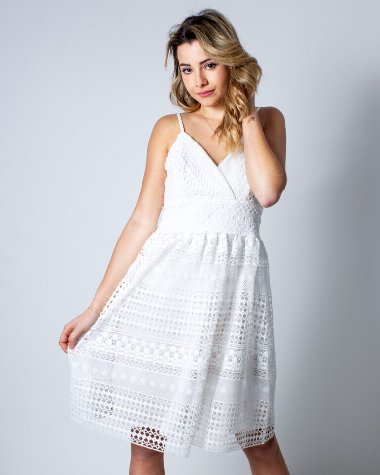 Vestito corto Vila Clothes Raisa Dress/DC Panna - Foto 1