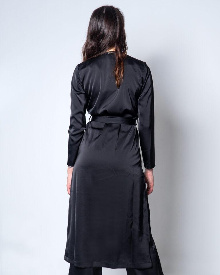 Vestito lungo Akè KIMONO BELGA Nero - Foto 4