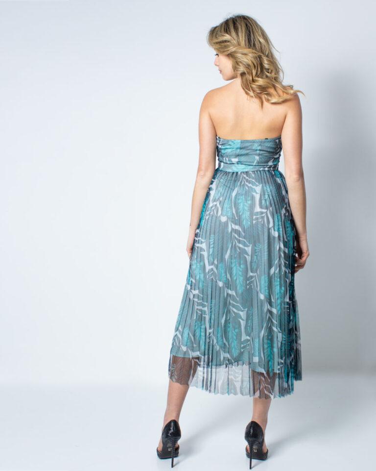 Vestito midi Guess MONICA DRESS Verde - Foto 2