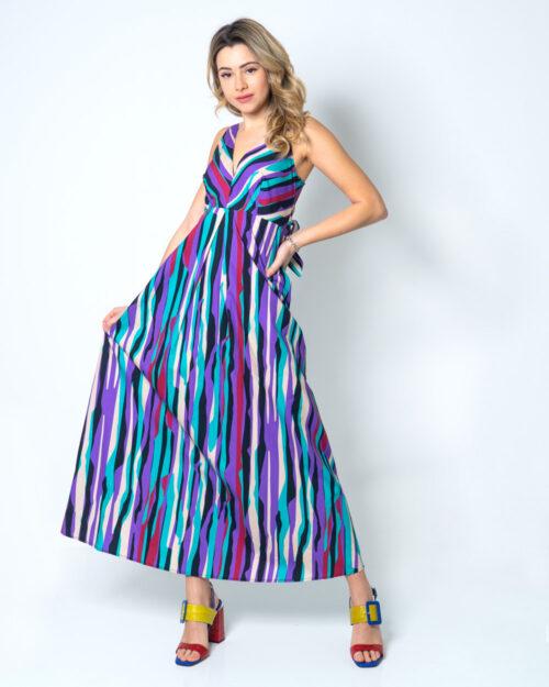 Vestito lungo Please MULTICOLORE Viola – 42502