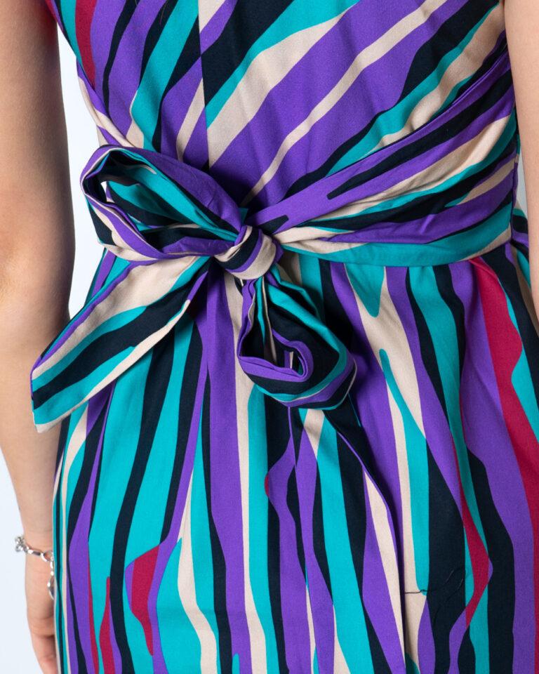 Vestito lungo Please MULTICOLORE Viola - Foto 4