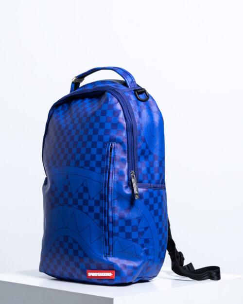 Zaino Sprayground CHECKERED SHARK Blu – 45114