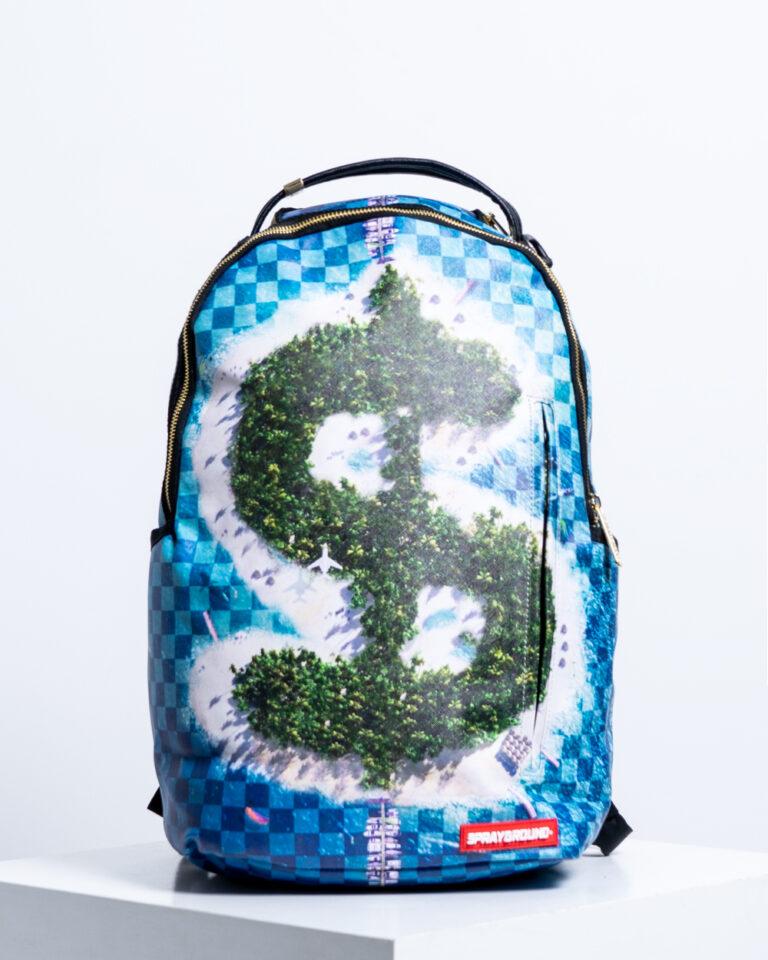 Zaino Sprayground MONEY ISLAND Celeste - Foto 1