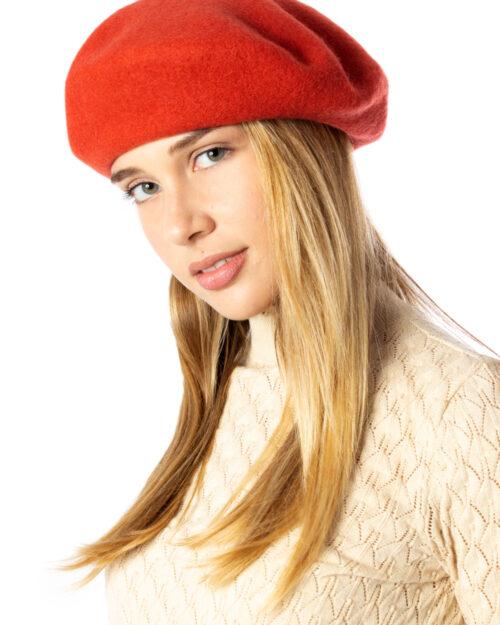Berretto Vila Clothes Hatta Wool Beret Mattone – 34391