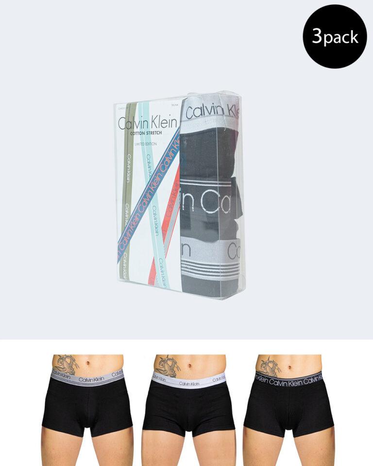 Boxer Calvin Klein Underwear TRUNK 3PK 000NB2336A Nero - Foto 1