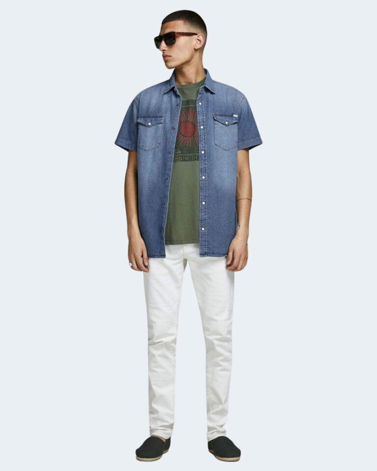 Camicia manica corta Jack Jones SHERIDAN Blue Denim - Foto 2