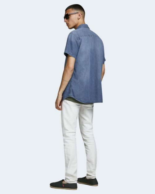 Camicia manica corta Jack Jones SHERIDAN Blue Denim - Foto 3