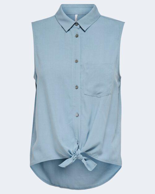 Camicia manica corta Only NINA Celeste - Foto 4