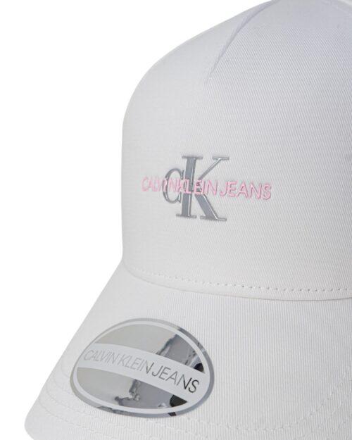 Cappello con visiera Calvin Klein MONO HARDWARE Bianco – 64799