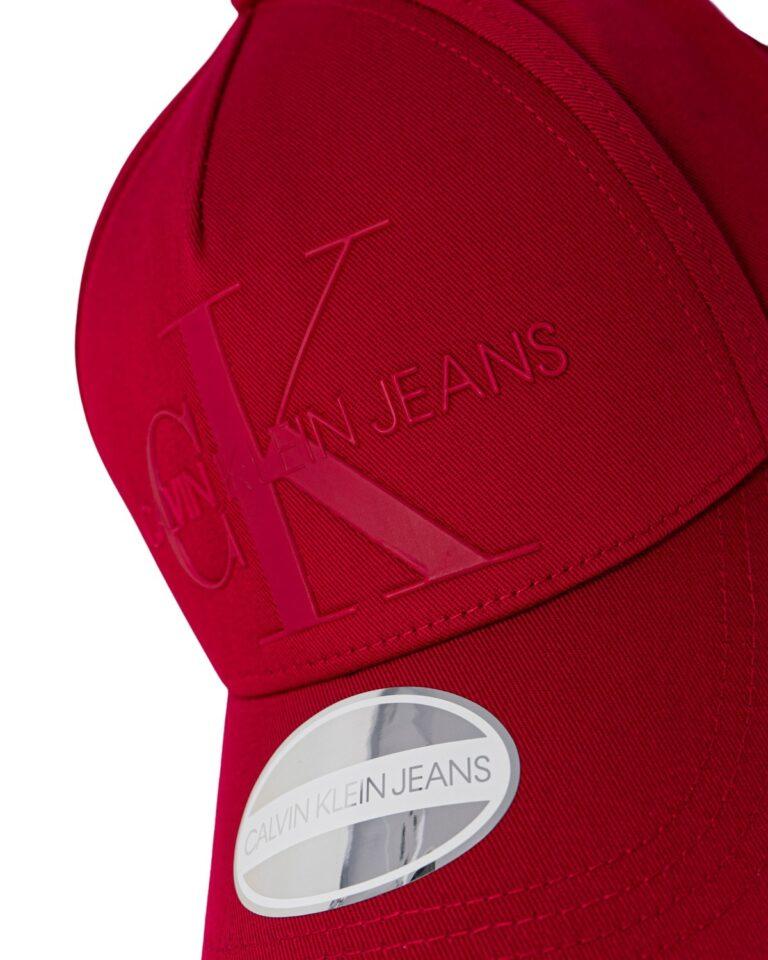 Cappello con visiera Calvin Klein MONOGRAM Rosso - Foto 3