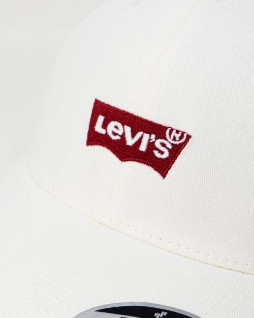 Cappello con visiera Levi's® MID BATWING FLEXFIT Bianco – 67549