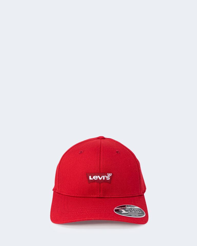 Cappello con visiera Levi's® MID BATWING FLEXFIT Rosso - Foto 1