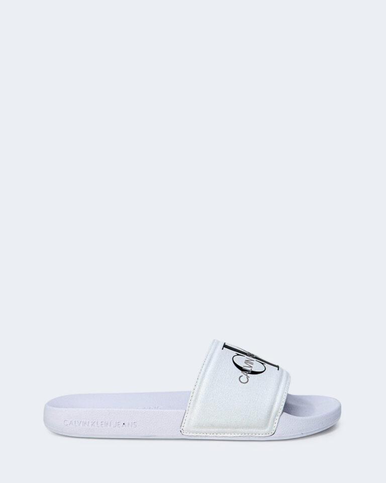 Ciabatte Calvin Klein Jeans SLIDE MONOGRAM Bianco - Foto 1