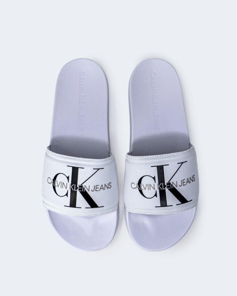 Ciabatte Calvin Klein Jeans SLIDE MONOGRAM Bianco - Foto 2