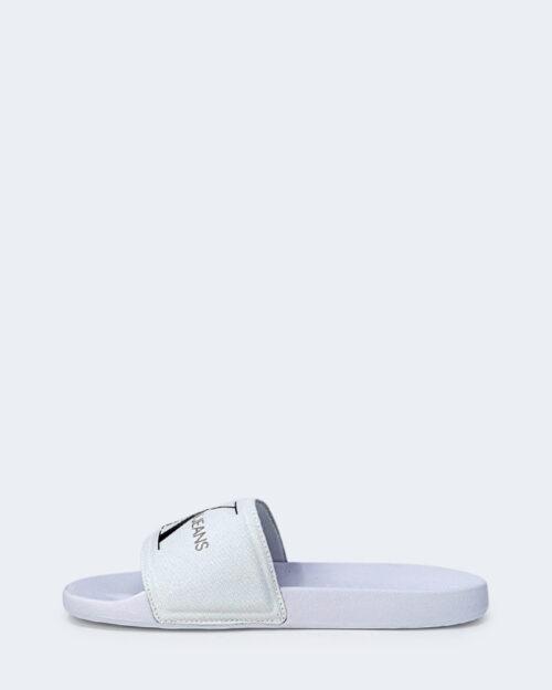 Ciabatte Calvin Klein Jeans SLIDE MONOGRAM Bianco - Foto 3