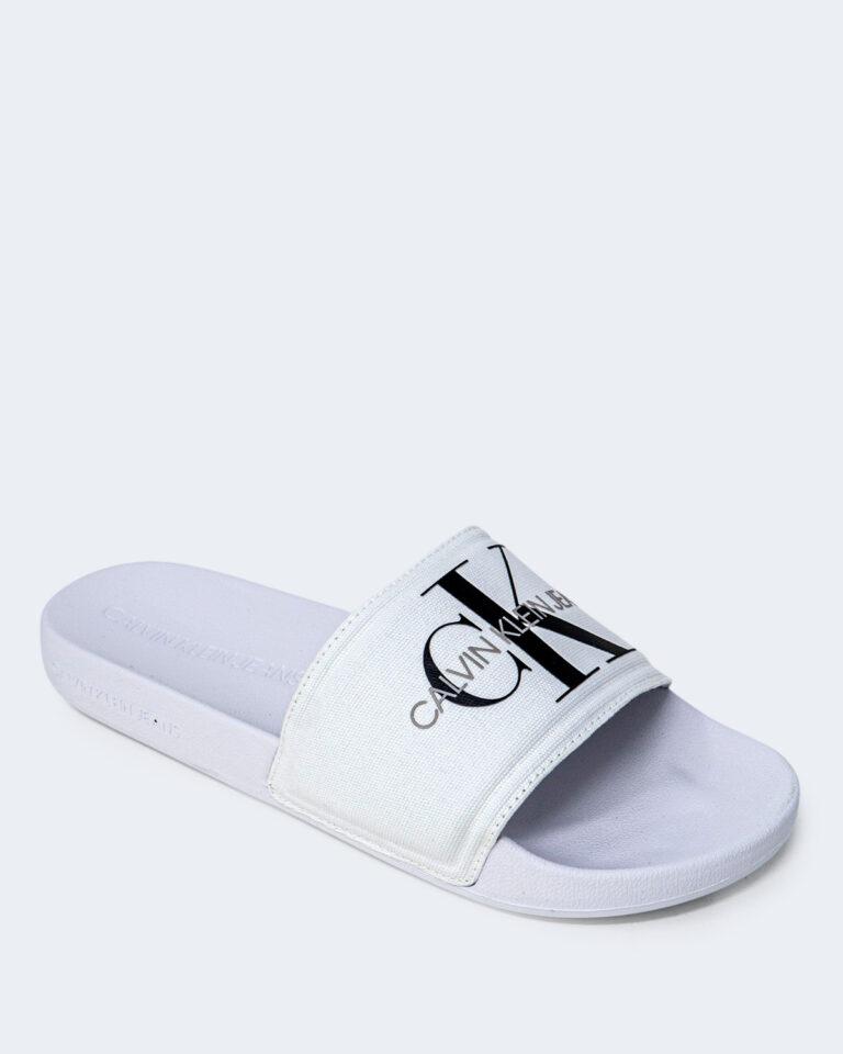Ciabatte Calvin Klein Jeans SLIDE MONOGRAM Bianco - Foto 4