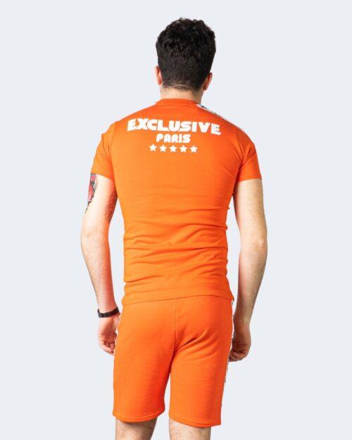 Completo corto tuta Exclusive Paris COMPLETINO BANDA LATERALE Arancione – 47022