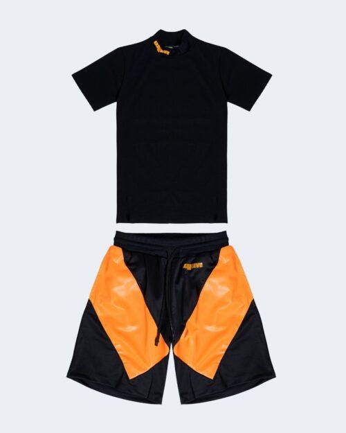 Completo corto tuta Exclusive Paris COMPLETINO LOGO Arancione – 47021