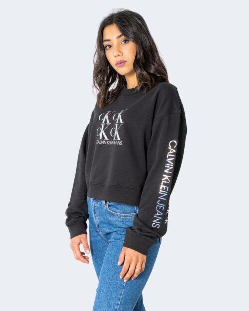 Felpa senza cappuccio Calvin Klein SHINE LOGO Nero – 64590