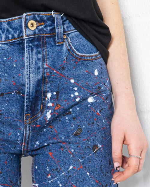 Jeans mom Gocciart EMILY DENIM BLUE SCHIZZI Blue Denim Scuro – 71208