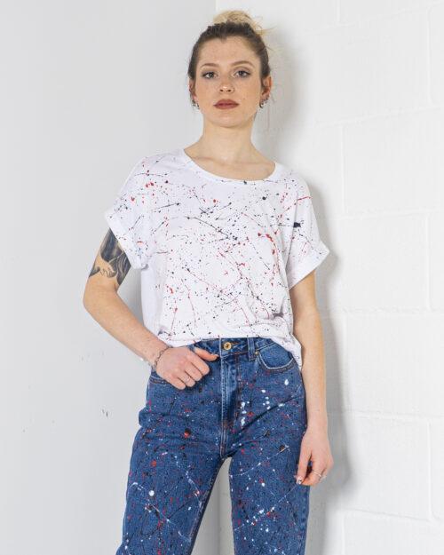 T-shirt Gocciart monster schizzata Bianco – 71191