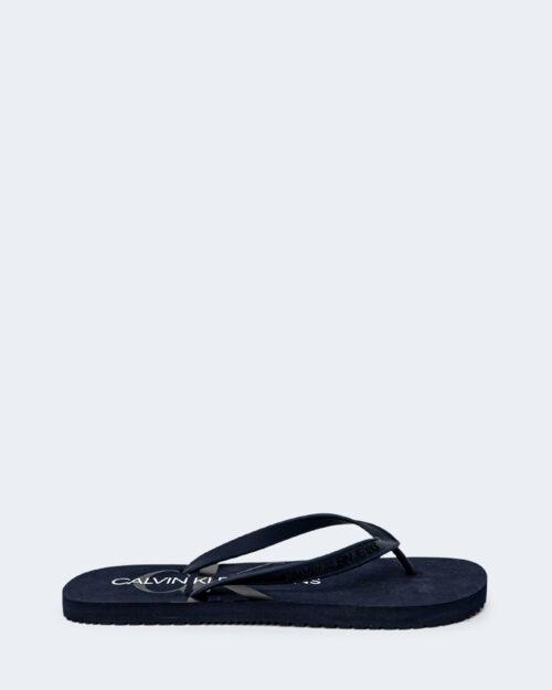 Infradito Calvin Klein Jeans BEACH Blue scuro - Foto 1
