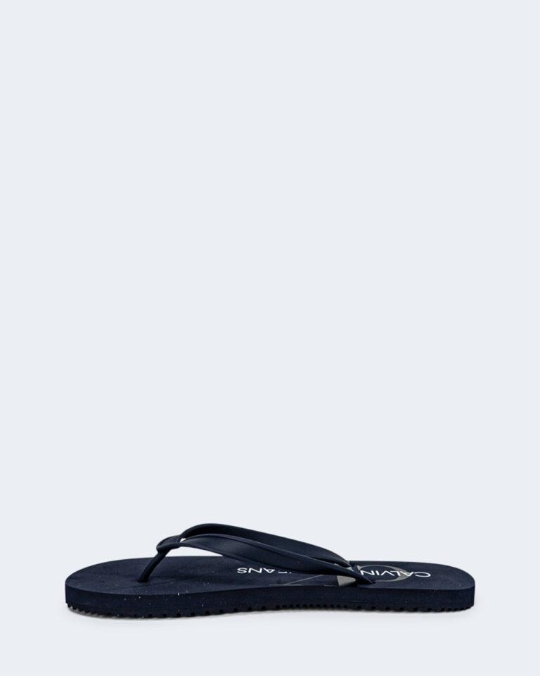 Infradito Calvin Klein Jeans BEACH Blue scuro - Foto 3