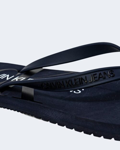 Infradito Calvin Klein Jeans BEACH Blue scuro - Foto 4