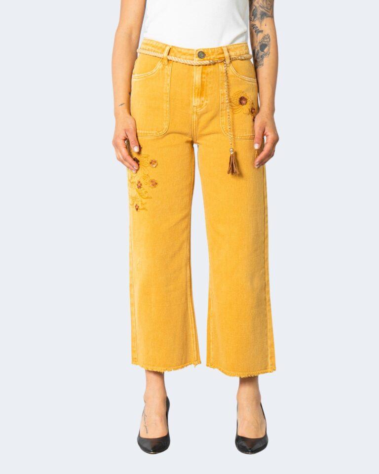 Jeans larghi Desigual SARAS Ocra - Foto 1