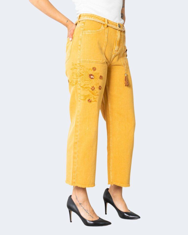 Jeans larghi Desigual SARAS Ocra - Foto 2