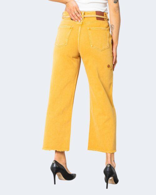 Jeans larghi Desigual SARAS Ocra - Foto 3
