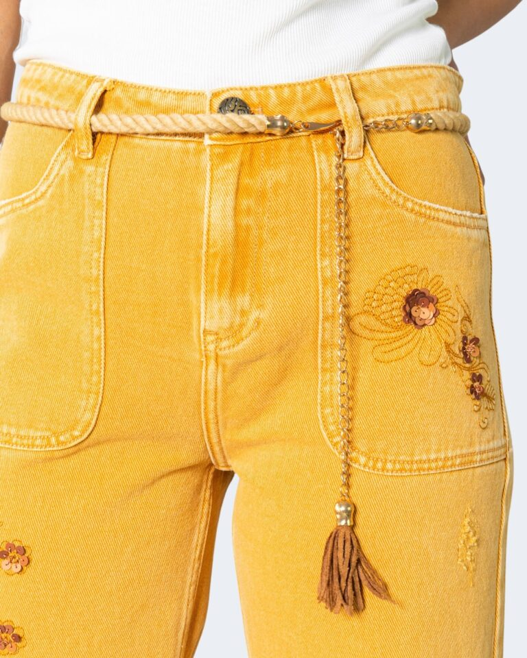 Jeans larghi Desigual SARAS Ocra - Foto 4