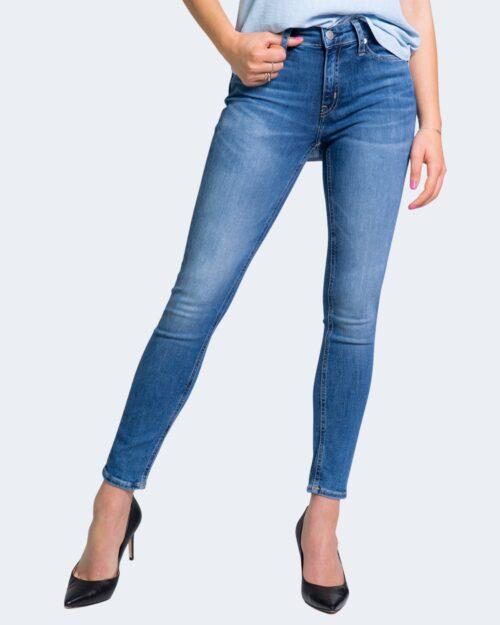 Jeans skinny Calvin Klein MID RISE ANKL Denim scuro – 64602