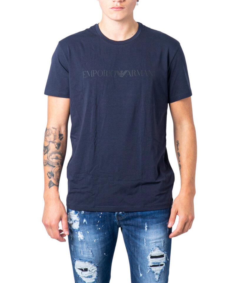 T-shirt intimo Emporio Armani CREW NECK Blu - Foto 5