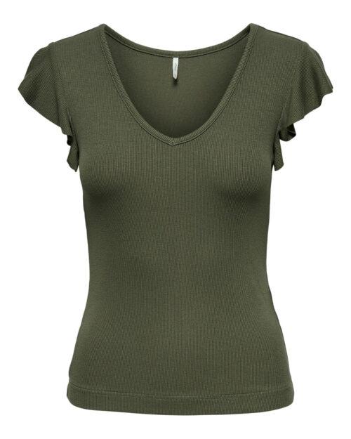 T-shirt Only BELIA Verde Oliva - Foto 5