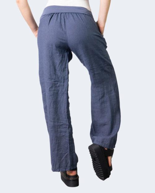Pantaloni a palazzo Akè BLU Blue Denim – 52149