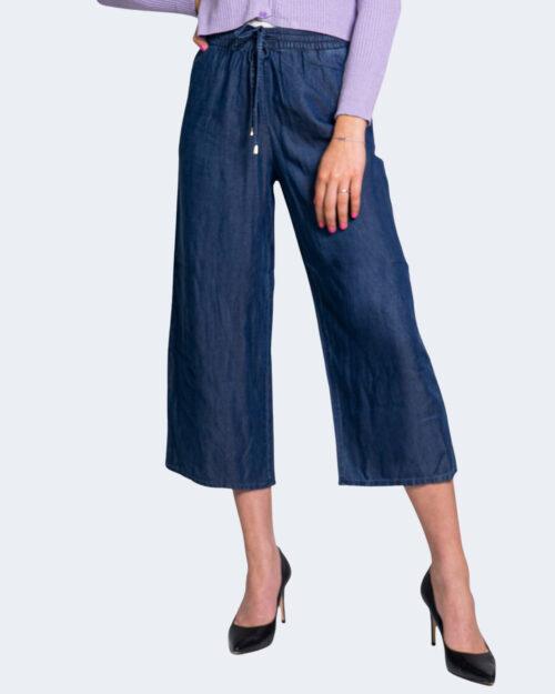 Pantaloni a palazzo Only POPPY Blue Denim Scuro – 63450