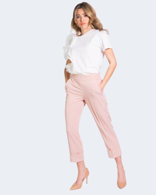 Pantaloni a palazzo Sandro Ferrone FLUID Rosa – 69283