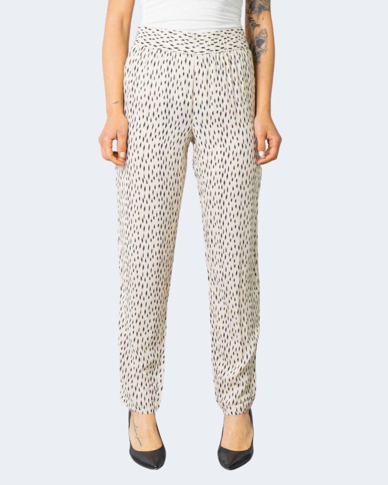 Pantaloni a sigaretta Jacqueline de Yong STAAR Crema - Foto 1