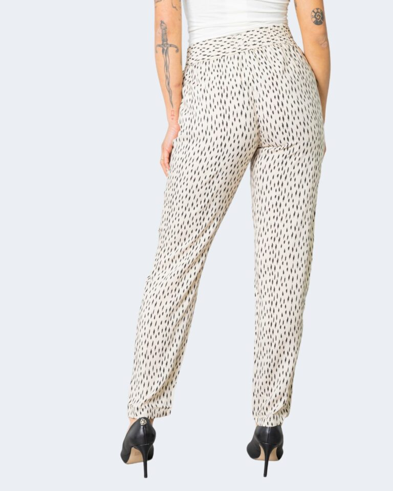 Pantaloni a sigaretta Jacqueline de Yong STAAR Crema - Foto 3