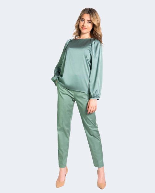 Pantaloni a sigaretta Sandro Ferrone CITYEASY Verde – 69282