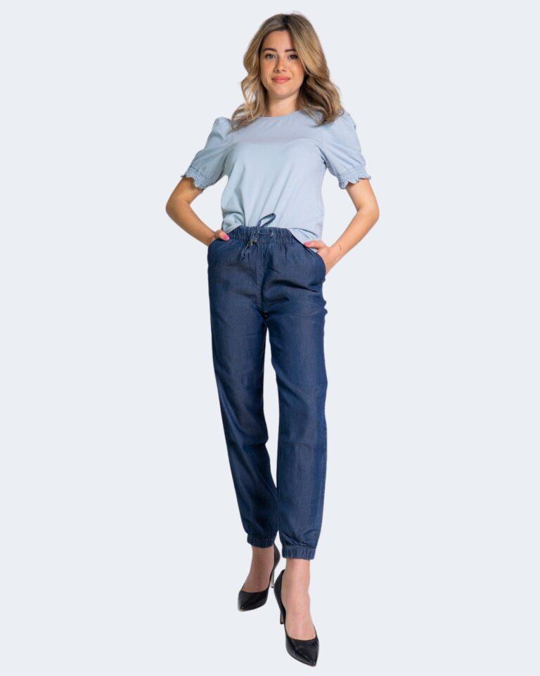 Pantaloni Only TESSA Blue Denim Scuro - Foto 2