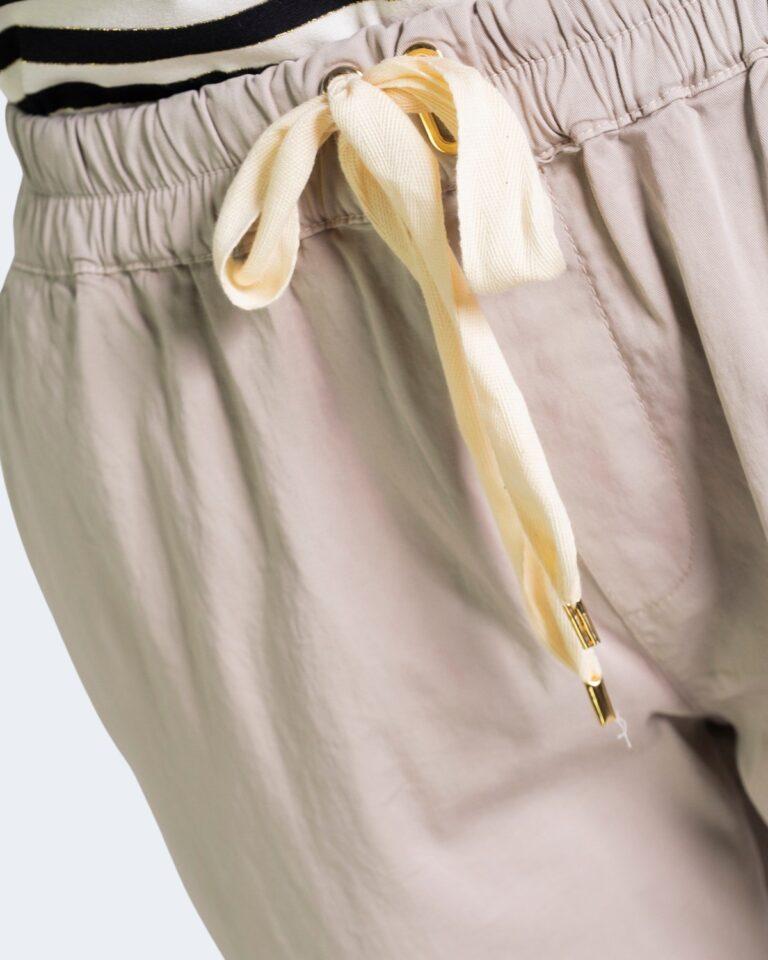 Pantaloni Sandro Ferrone WALKING Beige - Foto 4
