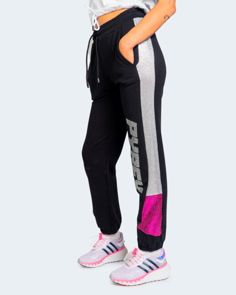 Pantaloni sportivi Pyrex BANDA LATERALE SILVER Nero - Foto 1