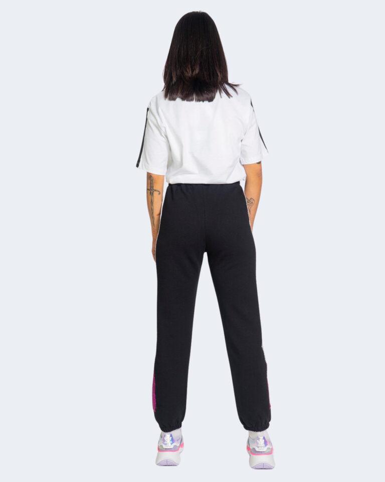 Pantaloni sportivi Pyrex BANDA LATERALE SILVER Nero - Foto 3