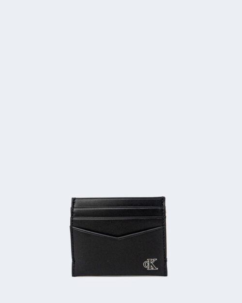 Portafoglio con portamonete Calvin Klein CARDCASE Nero - Foto 2