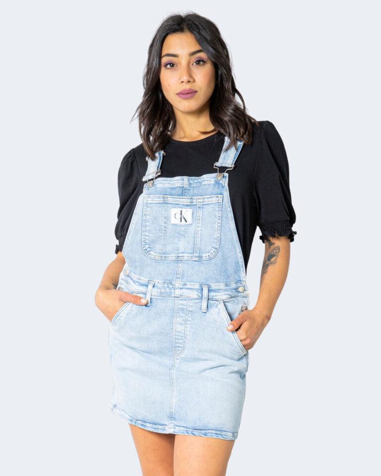Salopette gonna Calvin Klein Jeans DUNGAREE Denim chiaro - Foto 1